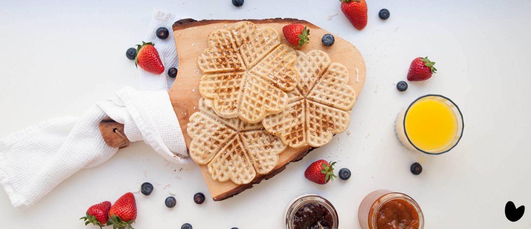 Einfache, vegane Waffeln   Frühstück 2.0