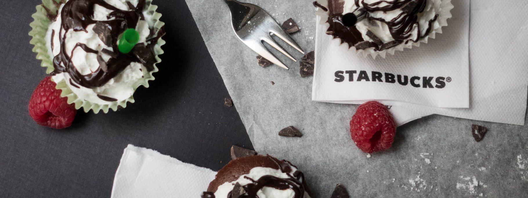 Frappuccino Inspired Vegan Cupcakes <br> Happy Birthday Starbucks!