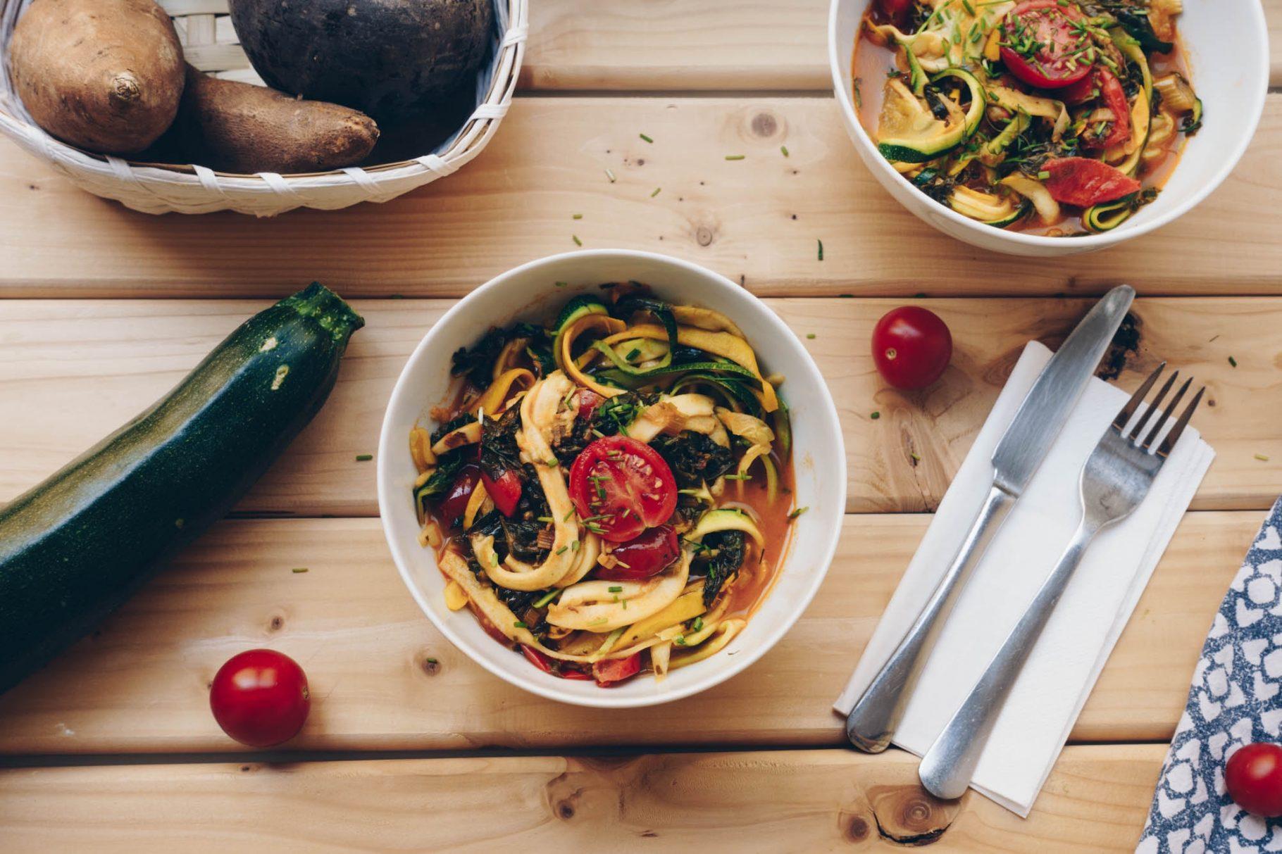 Veganes Zoodles Rezept | Low Carb Pasta